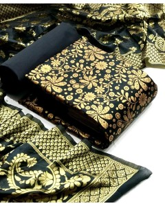 Jumbles Of 4 Dress material Banarasi Silk Dress 46-1 by TCG