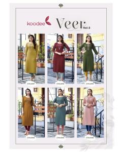 bundle of 6 kurti Veer 3 by Koodee