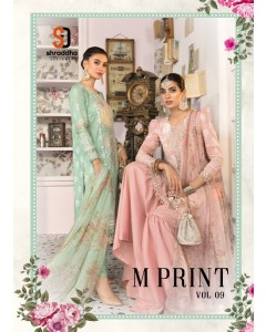 bundle of 4 pakistani suit Shraddha M Print 9