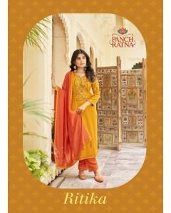 bundle of 5 dress material Ritika by Panch Ratna