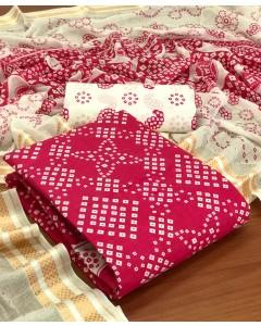 jumble of 8 dress material TCVN Bandhani Suits