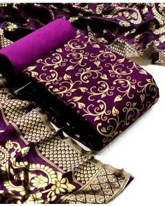 Jumble of 4 dress Material Banarasi Silk Dress 45 by TCG
