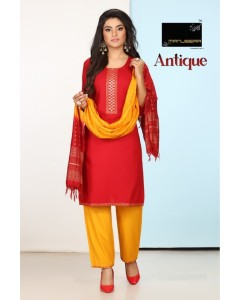 bundle of 8 top bottom with dupatta Antique by Manjeera
