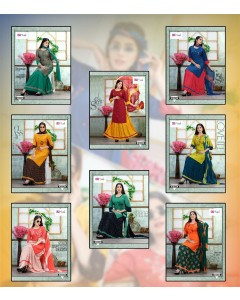 bundle of 8 top bottom with dupatta Lilly by K9