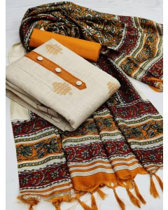 jumble of 4 dress material TCDS Khadi Cotton 6