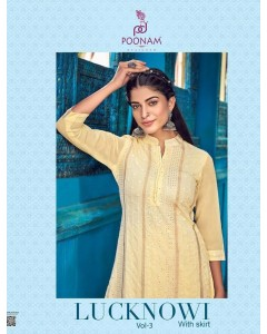 bundle of 6 kurti with skirt Lucknowi 3 by Poonam