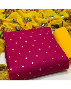 jumble of 5 dress material TCDS Slub Cotton 20