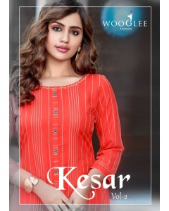 bundle of 6 kurti with pant Kesar 2 by Wooglee