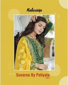 bundle of 8 readymade suits - Suvarna by Patiyala vol 5 by kalaroop