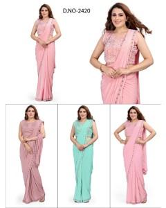 bundle of 4 sarees - Readymade 2420 by Rahi Designer