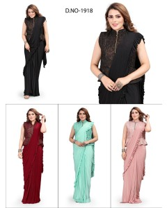 bundle of 4 sarees - Readymade 1918 by Rahi Designer