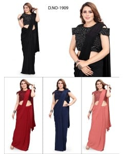 bundle of 4 sarees - Readymade 1909 by Rahi Designer
