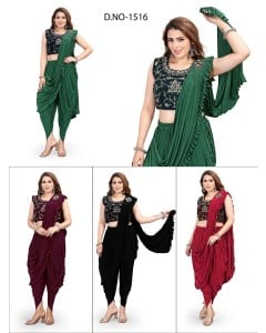 bundle of 4 sarees - Readymade 1516 by Rahi Designer