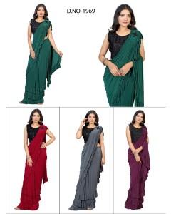 bundle of 4 sarees - Readymade 1969 by Rahi Designer