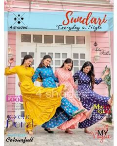 bundle of 5 kurtis - Sundari vol 1 by 4 Shades