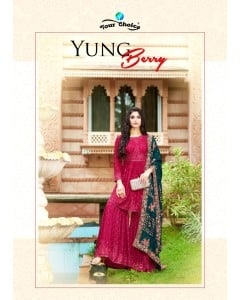 bundle of 4 salwar kameez - Young Berry by Your Choice