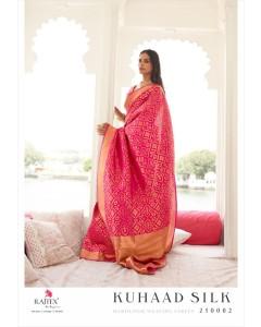 bundle of 7 sarees - Kuhaad Silk by Rajtex Fabrics