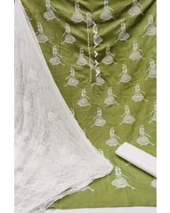 jumble of 4 dress material TCDS Slub Cotton 10