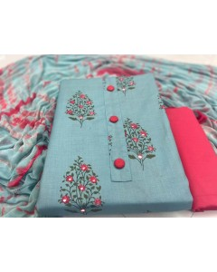 jumble of 4 dress material  Slub Cotton 8