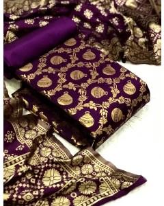 jumble  of 5 dress material  Banarasi Silk Dress 38 by TC