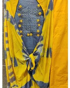 jumble of 8 dress material Slub Cotton 6