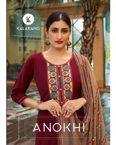 Bundle of 4 wholesale salwar suits Catalog ANOKHI by KALARANG
