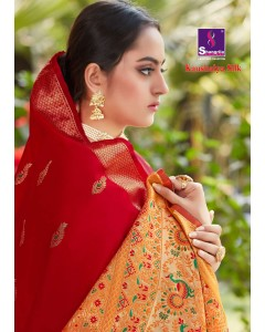 BUNDLE OF 6 WHOLESALE SAREE CATALOG  Kaushalya silk BY Shangrila'