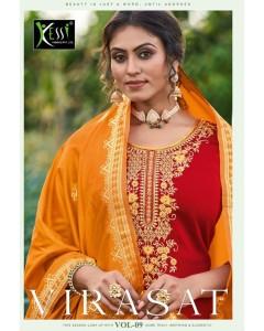 bundal of 9 wholesale salwar kameez catalogue visrat vol 9 by kessi fabrics