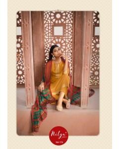 Bundle of 7 wholesale salwar suit Catalog NITYA VOL 174 by LT FABRICS