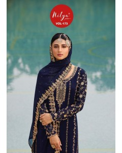 Bundle of 5 wholesale Salwar suits Catalog NITYA VOL 173 by LT FABRIC