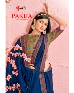 BUNDLE OF 10 WHOLESALE SAREE CATALOG PAKIJA BY MANTHAN