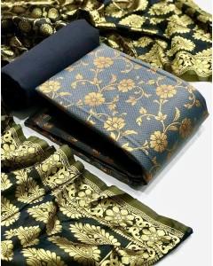 jumble of 4 dress material Banarasi Silk Dress 44