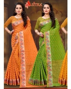 bundle of 6 sarees Day 9174