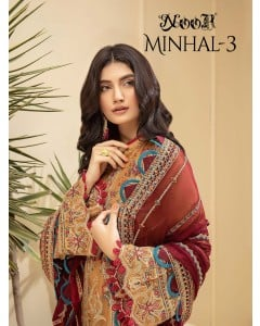 Bundle of 3 wholesale Pakistani Suits Catalogue Minhal Vol 3 by Noor