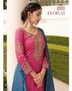Bundle of 5 wholesale salwar suit Catalog FLORAL by PANCH RATNA