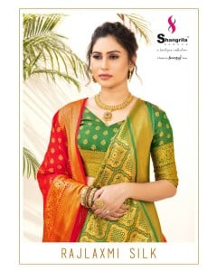 BUNDLE OF 6  WHOLESALE SAREE CATALOG  Rajlaxmi Silk BY  Shangrila