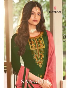 Bundle of 4 Readymade Suit Catalogue Sangeet by Rangoon