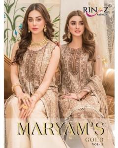 bundal of 5 wholesale salwar kameez catalogue maryam's gold vol 11 by rinaaz fashion