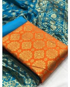 jumble of 10 dress material Banarasi Silk Dress 36 by TCG