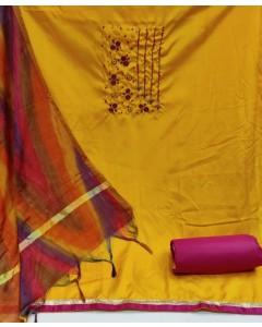 jumble of 4 dress material TCDS Silk 2-1