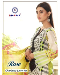 Bundle of 2 wholesale salwar suit Catalog ROSE CHARIZMA LAWN NX by SHANAYA FASHION