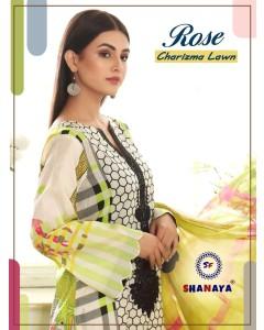 Bundle of 4 wholesale Salwar Suit Catalogue Rose Charizma Lawn by Shanaya Fashion