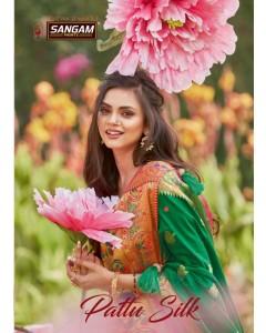bundle of 6 saree  Pattu Silk  by Sangam