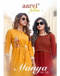 bundle of  8 kurti Manya 24  by Aarvi