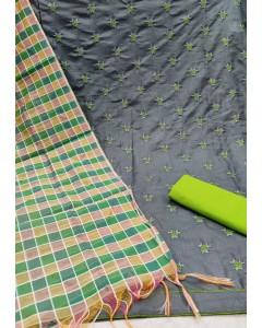 jumble of 4 dress material TCNX Slub Cotton 4