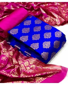 jumble of 7 dress material Banarasi Silk Dress 42