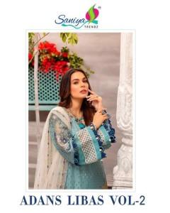 bundle of 4 pakistani suit Adan Libas 2 by Saniya