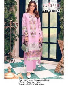 bundle of 4 salwar suit Rouche 3 by Zarqash
