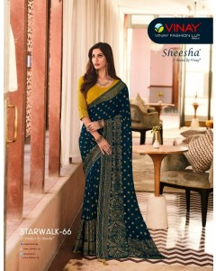 Bundle of 9 wholesale sarees Catalog STARWALK 66 by SHEESHA