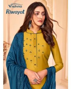 Bundle of 8 wholesale Salwar Suit Catalogue Riwayat by Vishnu Impex